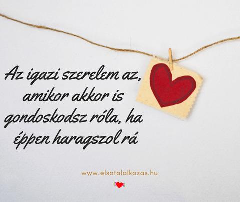 Az igazi szerelem az, amikor akkor is gondoskodsz róla, ha éppen haragszol rá